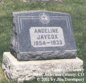 JAYCOX, ANGELINE - Jefferson County, Colorado | ANGELINE JAYCOX - Colorado Gravestone Photos