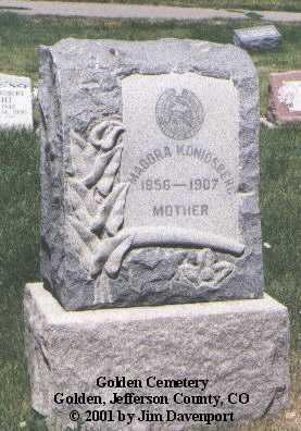 KONIGSBERG, MADORA - Jefferson County, Colorado | MADORA KONIGSBERG - Colorado Gravestone Photos