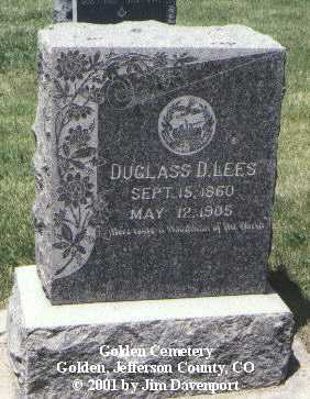 LEES, DUGLASS D. - Jefferson County, Colorado | DUGLASS D. LEES - Colorado Gravestone Photos