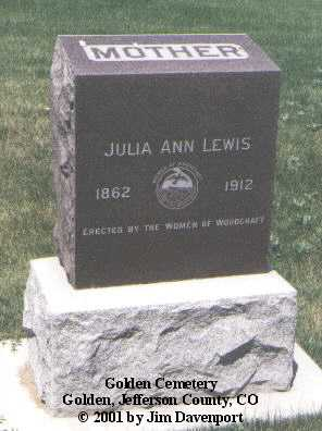 LEWIS, JULIA ANN - Jefferson County, Colorado | JULIA ANN LEWIS - Colorado Gravestone Photos
