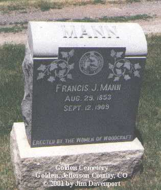 MANN, FRANCIS J. - Jefferson County, Colorado | FRANCIS J. MANN - Colorado Gravestone Photos