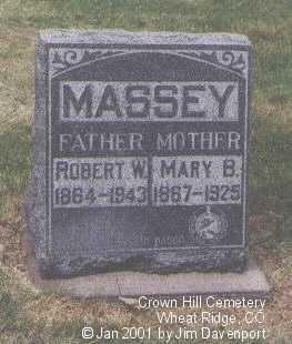 MASSEY, MARY B. - Jefferson County, Colorado | MARY B. MASSEY - Colorado Gravestone Photos