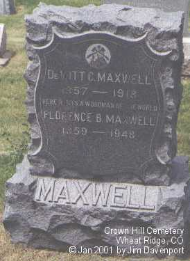 MAXWELL, FLORENCE B. - Jefferson County, Colorado | FLORENCE B. MAXWELL - Colorado Gravestone Photos