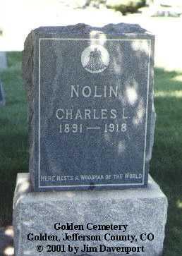NOLIN, CHARLES L. - Jefferson County, Colorado | CHARLES L. NOLIN - Colorado Gravestone Photos