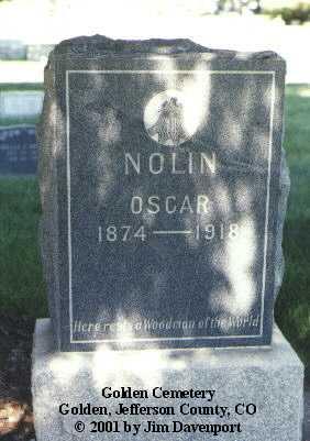NOLIN, OSCAR - Jefferson County, Colorado | OSCAR NOLIN - Colorado Gravestone Photos