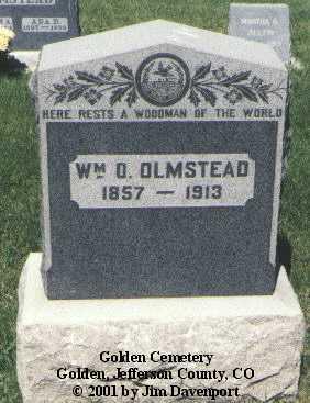 OLMSTEAD, WM. O. - Jefferson County, Colorado | WM. O. OLMSTEAD - Colorado Gravestone Photos