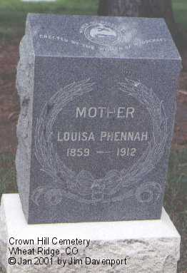 PHENNAH, LOUISA - Jefferson County, Colorado | LOUISA PHENNAH - Colorado Gravestone Photos
