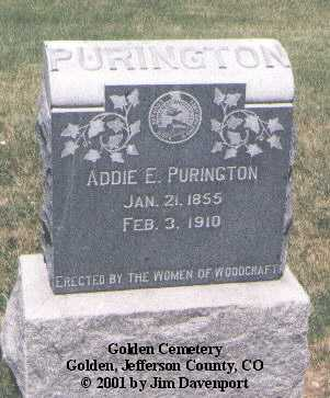 PURINGTON, ADDIE E. - Jefferson County, Colorado | ADDIE E. PURINGTON - Colorado Gravestone Photos