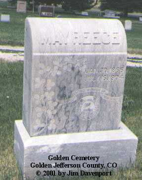 REECE, MAY - Jefferson County, Colorado | MAY REECE - Colorado Gravestone Photos