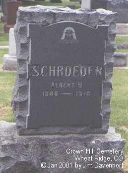 SCHROEDER, ALBERT H. - Jefferson County, Colorado | ALBERT H. SCHROEDER - Colorado Gravestone Photos