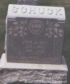 SCHUCK, JOHN - Jefferson County, Colorado | JOHN SCHUCK - Colorado Gravestone Photos