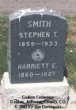 SMITH, STEPHEN T. - Jefferson County, Colorado | STEPHEN T. SMITH - Colorado Gravestone Photos