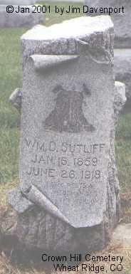 SUTLIFF, WM D. - Jefferson County, Colorado | WM D. SUTLIFF - Colorado Gravestone Photos
