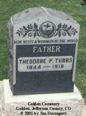 TUBBS, THEODORE P. - Jefferson County, Colorado | THEODORE P. TUBBS - Colorado Gravestone Photos