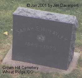 WHEATLEY, SARAH S. - Jefferson County, Colorado | SARAH S. WHEATLEY - Colorado Gravestone Photos