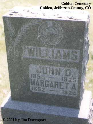 WILLIAMS, MARGARET A. - Jefferson County, Colorado | MARGARET A. WILLIAMS - Colorado Gravestone Photos