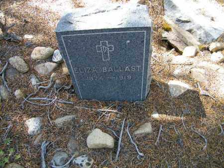 BALLAST, ELIZA - Lake County, Colorado | ELIZA BALLAST - Colorado Gravestone Photos