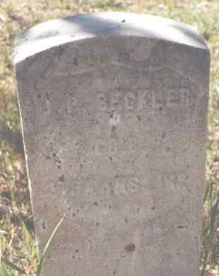 BECKLER, J. P. - Lake County, Colorado | J. P. BECKLER - Colorado Gravestone Photos