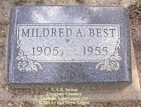 BEST, MILDRED A. - Lake County, Colorado | MILDRED A. BEST - Colorado Gravestone Photos