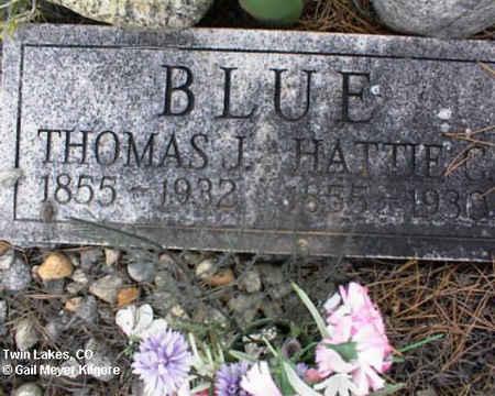 BLUE, THOMAS J. - Lake County, Colorado | THOMAS J. BLUE - Colorado Gravestone Photos