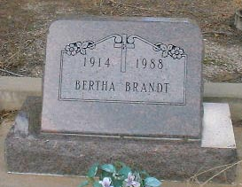 BRANDT, BERTHA - Lake County, Colorado | BERTHA BRANDT - Colorado Gravestone Photos