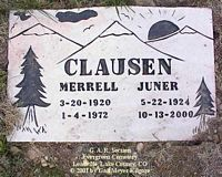 CLAUSEN, MERRELL - Lake County, Colorado | MERRELL CLAUSEN - Colorado Gravestone Photos