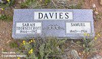 DAVIES, SARAH - Lake County, Colorado | SARAH DAVIES - Colorado Gravestone Photos