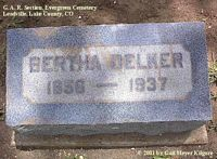 DELKER, BERTHA - Lake County, Colorado | BERTHA DELKER - Colorado Gravestone Photos