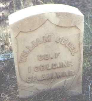 DEUEL, WILLIAM - Lake County, Colorado | WILLIAM DEUEL - Colorado Gravestone Photos