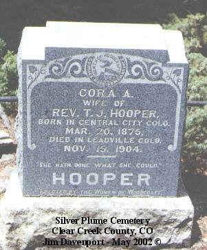 HOOVER, CORA A. - Lake County, Colorado | CORA A. HOOVER - Colorado Gravestone Photos