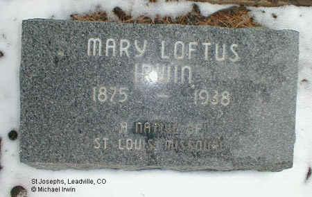 IRWIN, MARY FRANCES - Lake County, Colorado | MARY FRANCES IRWIN - Colorado Gravestone Photos