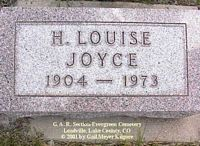 JOYCE, HELEN  LOUISE - Lake County, Colorado | HELEN  LOUISE JOYCE - Colorado Gravestone Photos