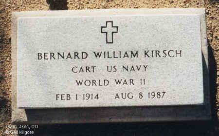 KIRSCH, BERNARD WILLIAM - Lake County, Colorado | BERNARD WILLIAM KIRSCH - Colorado Gravestone Photos