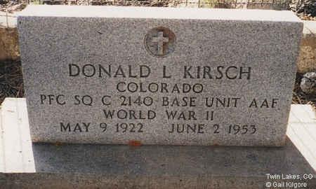 KIRSCH, DONALD L. - Lake County, Colorado | DONALD L. KIRSCH - Colorado Gravestone Photos