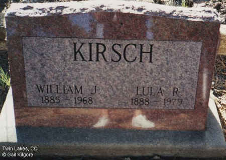 KIRSCH, WILLIAM J. - Lake County, Colorado | WILLIAM J. KIRSCH - Colorado Gravestone Photos