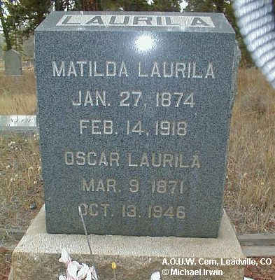 LAURILA, OSCAR - Lake County, Colorado | OSCAR LAURILA - Colorado Gravestone Photos