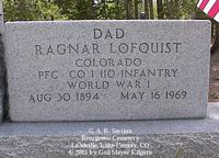 LOFGUIST, RAYNOR - Lake County, Colorado | RAYNOR LOFGUIST - Colorado Gravestone Photos