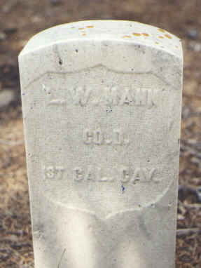 MANN, L. W. - Lake County, Colorado | L. W. MANN - Colorado Gravestone Photos