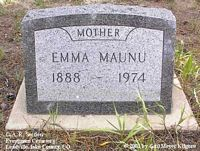 MAUNU, EMMA - Lake County, Colorado | EMMA MAUNU - Colorado Gravestone Photos
