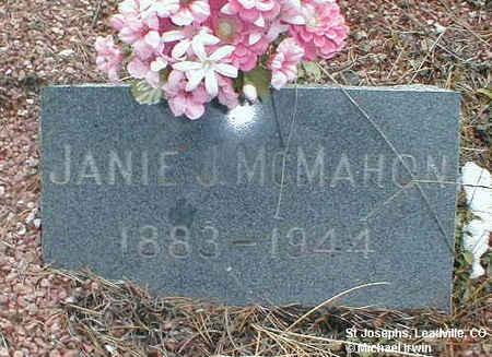 MCMAHON, JANIE J. - Lake County, Colorado   JANIE J. MCMAHON - Colorado Gravestone Photos