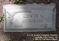 OSBORNE, EDWIN  L. - Lake County, Colorado | EDWIN  L. OSBORNE - Colorado Gravestone Photos