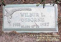 OSBORNE, WILBUR L. - Lake County, Colorado | WILBUR L. OSBORNE - Colorado Gravestone Photos