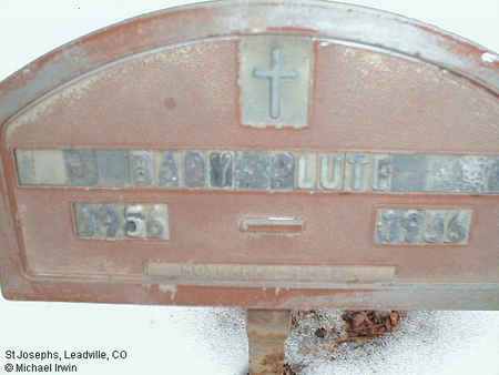 PLUTE, BABY - Lake County, Colorado | BABY PLUTE - Colorado Gravestone Photos