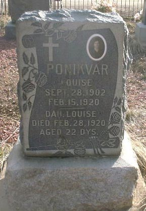 PONIKVAR, LOUISE - Lake County, Colorado | LOUISE PONIKVAR - Colorado Gravestone Photos