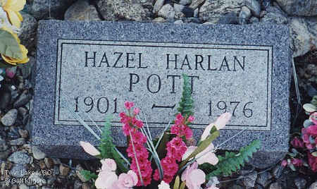 POTT, HAZEL - Lake County, Colorado | HAZEL POTT - Colorado Gravestone Photos