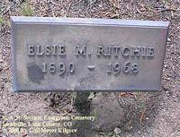RITCHIE, ELSIE M. - Lake County, Colorado | ELSIE M. RITCHIE - Colorado Gravestone Photos