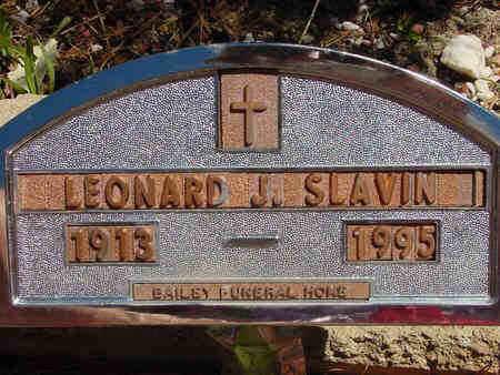 SLAVIN, LEONARD JOHN - Lake County, Colorado | LEONARD JOHN SLAVIN - Colorado Gravestone Photos