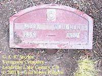 VAUGHN, MARY - Lake County, Colorado | MARY VAUGHN - Colorado Gravestone Photos
