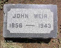 WEIR, JOHN - Lake County, Colorado | JOHN WEIR - Colorado Gravestone Photos