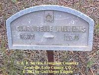 WILLIAMS, CLARA BELLE - Lake County, Colorado | CLARA BELLE WILLIAMS - Colorado Gravestone Photos